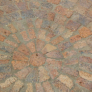 broken cobble paving